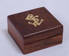 G3108: Boussole Boîte,Maritime Boîte en bois,Boîte vide,Laiton Intarsia Noble