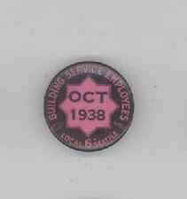 1938 SEATTLE WASHINGTON Building Service Employees LABOR Union TRADE Pin SEIU