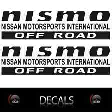 (2) MATTE Black NISMO OFF ROAD Decals Stickers Nissan Titan Frontier Pathfinder