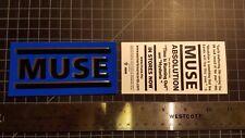 "TEN Muse Absolution Rare Promo Stickers Foil 5"" x 2.5"" bumpersticker"