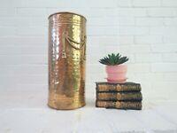 Vintage Brass Umbrella Stand AS-IS Lightweight Material Hollywood Regency Vase