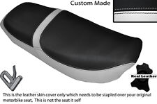 WHITE & BLACK CUSTOM FITS HONDA CB 650 SC NIGHTHAWK 82-85 DUAL SEAT COVER