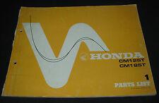 Parts List Honda CM 125 T / CM 185 T von 1977 Ersatzteilkatalog Parts Catalogue!