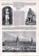 1876 Yarmouth acquario e Winter Garden James CARMICHAEL Statua Dundee