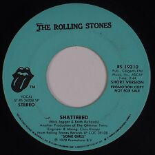 THE ROLLING STONES: Shattered (Long / Short) PROMO ONLY 45 Some Girls VG+
