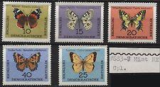 East Germany 1964 #683-687 10pf-40pf - butterflies