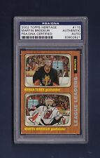 Martin Brodeur signed New Jersey Devils 2002 Topps Heritage hockey card PSA