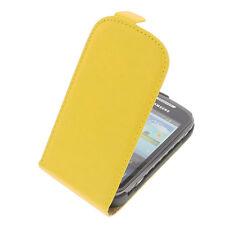 Funda para Samsung Galaxy Xcover 2 S7710 Tipo Flip Móvil Amarillo