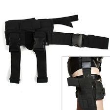 Adjustable Waterproof Black Tactical Puttee Thigh Leg Pistol Gun Holster Pouch
