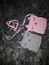 Cute kitty girl's handbag shoulder bag brand new with tags 2 colours pink grey