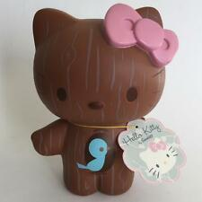 "Hello Kitty Faux Wood Grain Plastic Coin Bank 8"" Figure Sanrio Urban Outfitters"