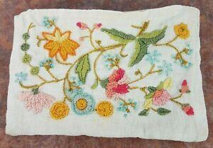 "Vintage 8"" Handmade Needlepoint Embroidered Purse Bag Pocketbook Coin Clutch"