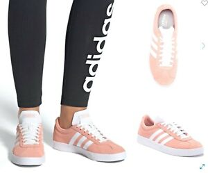 Women's adidas Essentials VL Court 2.0 Skate Style Casual Shoes Sneakers Pink
