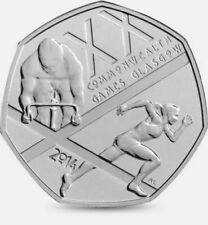 2014 50P coin FIFTY PENCE commonwealth games
