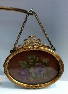 Empire Gilded Oval Picture Frame With Bow Decoration, France III. Napoleon era