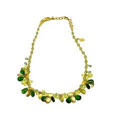 Gurhan 24K Gold Briolette Peridot & Tourmaline Necklace