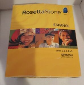 USED ROSETTA STONE V3 SPANISH PERSONAL EDITION Level 1,2,3,4 & 5 for PC, Mac