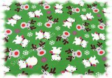 Snow Bear SWEAT JERSEY VERDE Hilco 50 cm Inverno sostanza Orsi tessuto elastico Sweaty