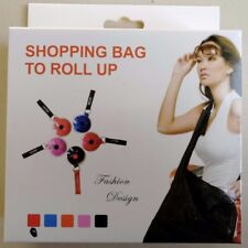 2 X Roll Up Disc Pull Out Shopping Bag Super Compact 15L Capacity Reusable Green