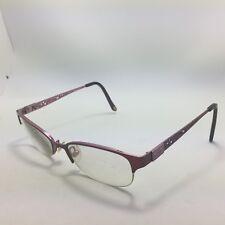 25bb074d8b Lulu Guinness L752 eyeglasses Burgundy Half Rim Filigree Side 51-18-140