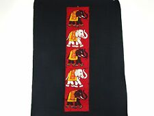 Nepalese Elephants on Parade Batik Cloth Wall Hanging
