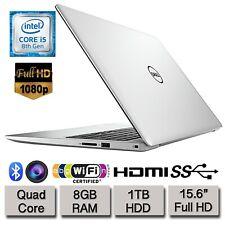 "Dell Inspiron 5570 15.6"" Full HD Laptop Quad Core i5 8GB RAM 1TB HDD UK Warranty"