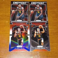 De'Andre Hunter Lot 4x 2019-20 Prizm NBA Base Rc (1) Rwb (1) Emergent (2) Hawks