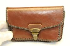 Hand Made  Small Brown Leather Clutch Fanny Pack Belt Bag