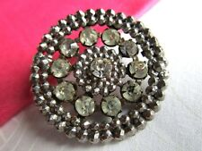 6158 – 11 Claw Set Faceted Jewels Set in 2-Layer Steel Openwork Antique Button