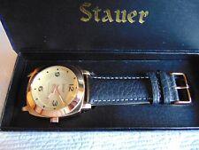 Stauer 44mm Valeo 18K Brushed RG Fused SS Case & High Polished SS Bezel Watch