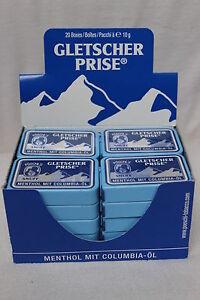 40 X 10 g Gletscherprise Snuff Schnupftabak Frisch und OVP Kostenloser Versand