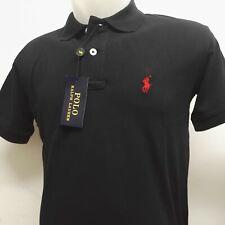 Ralph Lauren Man Polo shirt Short sleeve Custom Slim Fit Black Medium