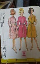 1964 Mccalls 7554 misses loose raglan robe house coat dress sz 14-16 UNCUT