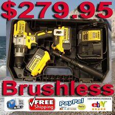 "DEWALT 20V MAX XR Li-Ion Brushless 3-Speed 1/2"" Hammer Drill Kit DCD996 5ah"