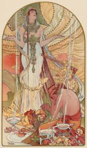 Alphonse Mucha Incantation Giclee Art Paper Print Paintings Poster Reproduction