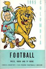 1965 Columbia Lions College Football Media Guide, Head Coach Buff Donelli ~ VG