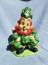 Lefton Vintage St. Patricks Day Leprechaun Planter Irish Figurine