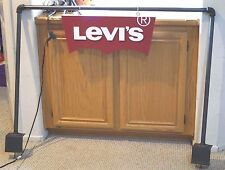 LEVI LEVI'S LEVIS STORE DISPLAY SIGN DOUBLE SIDED 3D LETTERS W/ HARDWARE POLES
