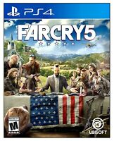Far Cry 5 PS4 (Sony PlayStation 4) BRAND NEW FACTORY SEALED Ubisoft FPS Farcry 5