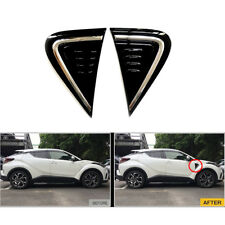 Chrome Air Vent Side Outlet Cover Trim Outside Black Fit 2016-18 Toyota CHR C-HR