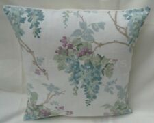 "Laura Ashley Designer Cushion Cover ""WISTERIA"" DUCK EGG Fabric Various Sizes"