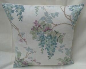 "Laura Ashley Designer Cushion Cover ""WISTERIA"" DUCK EGG Fabric Various Sizes"