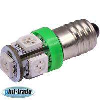 SMD LED E10 grüne Lampe Schraubgewinde 12V Volt GRÜN 5x5050 Power SMD