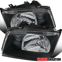 For 1999-2005 VW Wolkswagen Jetta Bora MK4 Black Clear Headlights Lamps Pair