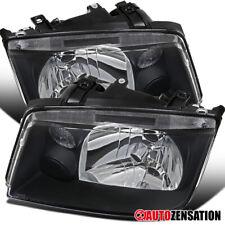 For 1999-2005 VW Wolkswagen Jetta Bora MK4 Black Clear Headlights Lamps Pair