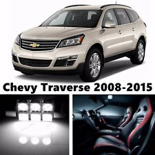 18pcs LED Xenon White Light Interior Package Kit for Chevy Traverse 2008-2015