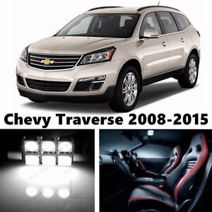 18pcs LED Xenon White Light Interior Package Kit for Chevy Traverse 2008-2015