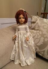 "Rare STUNNING Large 22"" Composition Madame Alexander Wendy Ann Bride Doll"