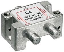 Sat-Verteiler 2-fach 5-2450 MHz - digital-tauglich (100dB)