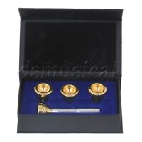 Silver Plated Brass Professional 4 Golden Head Cups & Mouthpiece for Trumpet